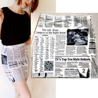 Read me up and down  women bandage skirt  all by devowevoshop