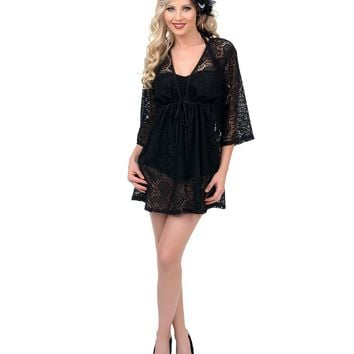 Black Skull Lace Cover Up - New Arrivals!