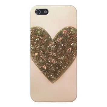 jeweled heart bling