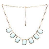 7 Square Pretty Statement Necklace