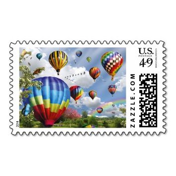 Hot Air Balloon Remunerations Stamps