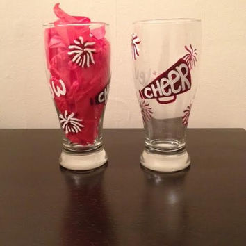 Hand painted cheering glass