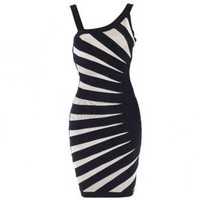 Aimee Contrast-Banded Dress