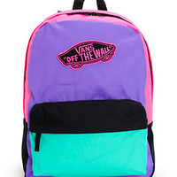 Vans Realm Purple, Green & Pink Colorblock Backpack