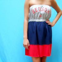 Boston Red Sox Game Day Dress by LoveMyGameDress on Etsy