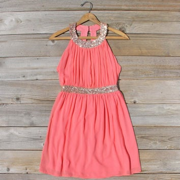 Ice Shadow Dress in Coral