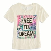 's Dream Graphic T-shirt (Chalk)