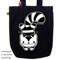 Grinning Kitty Tote | ShanaLogic