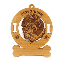 3347 Havanese Personalized Dog Ornament by gclasergraphics on Etsy