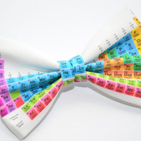 Periodic Table of Elements print Bow Tie with Adjustable Strap