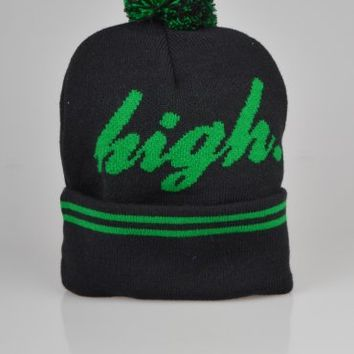 Odd Future Domo High Pom Pom Beanie Hat - Black