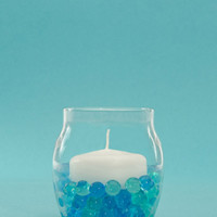 "Product: Set of 42, 2.25"" Floating Candles And Hurricane Holders"