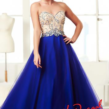 Mac Duggal 81951H Strapless Ball Gown