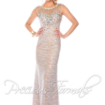 Lux Gal by Precious Formals L70080 Sleeveless High Neck Gown