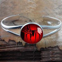 Windows Spider  bracelet,cufflink bracelet,Silver Metal Cuff Bracelet,Photo Jewelry - wdding gift for brade brademaid