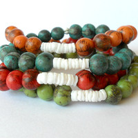 Acai Bead Bracelets in Four Colour Choices