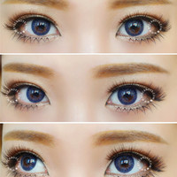 GEO Tri-Color World Blue Color Contact Lenses | EyeCandy's