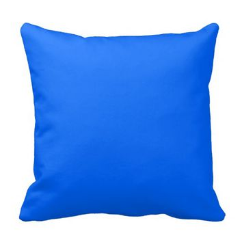 bright sky blue pillow