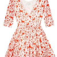 Carolina K Red Otomi Aurora Dress