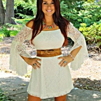 Gone Country Dress Ivory