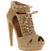 Jeffrey Campbell TAWNY NUDE SUEDE Shoes - Womens High Heels Shoes - Office Shoes