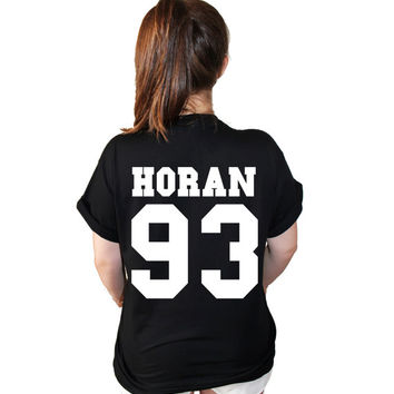 Niall Horan One Direction T shirt Date of birth Tee American Varsity Football Jersey Style T Shirt