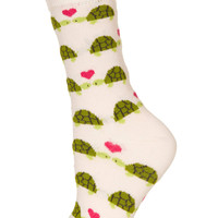 Pink Kissing Turtles Socks
