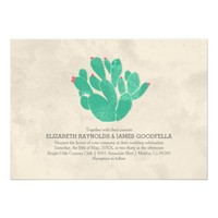 Elegant Cactus Wedding Invitations