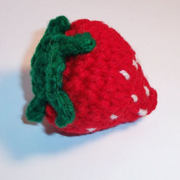 Adorable, unique five catnip blend stuffed strawberry cat toy