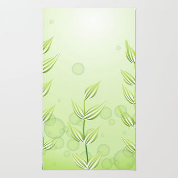 Underwater Plants Area & Throw Rug by Texnotropio