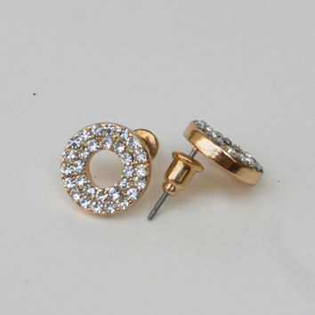 Sparkling Eternity Earrings [5662] - $12.00 : Vintage Inspired Clothing & Affordable Dresses, deloom | Modern. Vintage. Crafted.