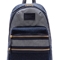 Marc by Marc Jacobs Domo Arigato Chambray Packrat Backpack in Blue