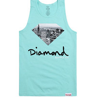 Diamond Supply Co Big City Fill Tank Top - Mens Tee - Green -