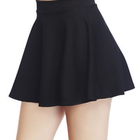 Solid Skater Skirt | Wet Seal