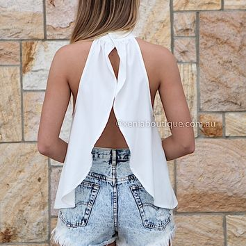 ADDICTION TO LOVE TOP , DRESSES, TOPS, BOTTOMS, JACKETS & JUMPERS, ACCESSORIES, 50% OFF SALE, PRE ORDER, NEW ARRIVALS, PLAYSUIT, COLOUR, GIFT VOUCHER,,White,BACKLESS,SLEEVELESS Australia, Queensland, Brisbane