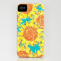 sunflower field iPhone & iPod Case by Sharon Turner