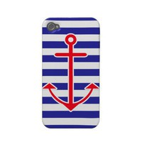 Classic Nautical Anchor Iphone 4 Covers from Zazzle.com