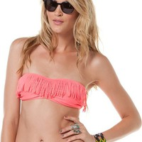 KANDY WRAPPERS BANDEAU FRINGE BIKINI TOP  Womens  Clothing  Swimwear | Swell.com