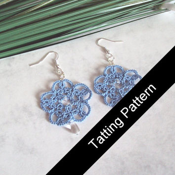 PDF Tatting Pattern Isabella Earrings - Beginner - Instant Download