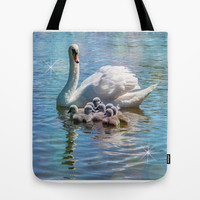 SWANNING AROUND Tote Bag by Catspaws | Society6