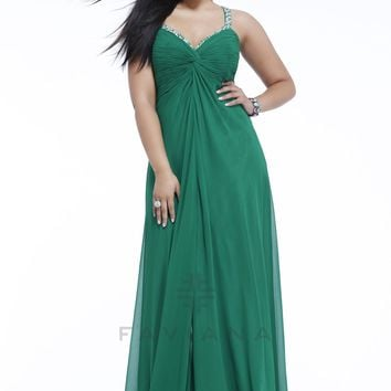 Faviana 9333 Chiffon Plus Size Dress