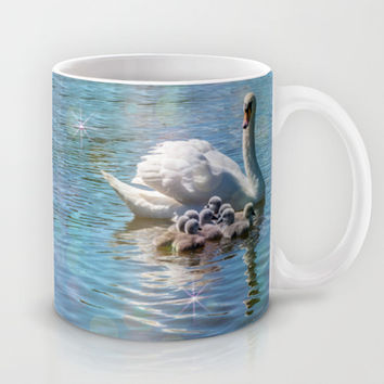 SWANNING AROUND Mug by Catspaws | Society6