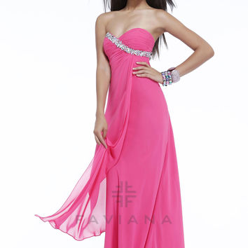 Faviana 7340 - Hot Pink Strapless Sweetheart Prom Dresses Online