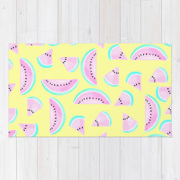 Summertime Area & Throw Rug by Lisa Argyropoulos   Society6