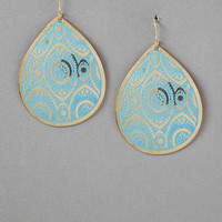 DAMIETTA PRINTED TEARDROP EARRINGS
