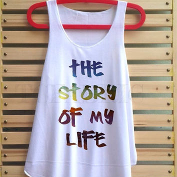 one direction the story of my life shirt 1D tank top singlet clothing vest tee tunic - size S M