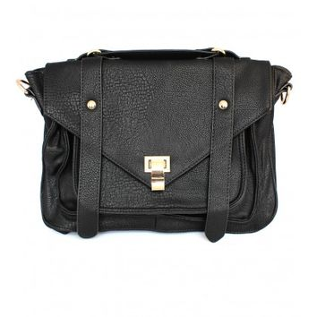City Girl Black Satchel
