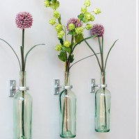 Wall Vases using Wine Bottles - kitchen