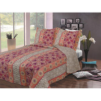 Walmart: Luxury Fashionable Reversible Printed Bedding Quilt Set, Bohemian Floral