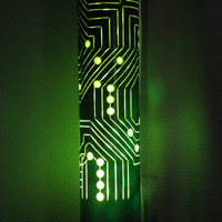 Treasury. Table Lamp. Computer Circuit Board. Father's Day Gifts. Gifts for him. June gift. Office. Decor. Handmade. 10% COUPON DISCOUNT.